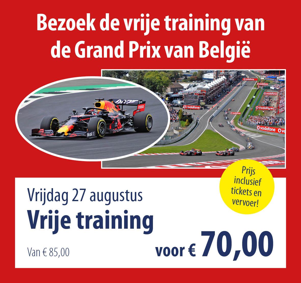 busreis GP België vrije training