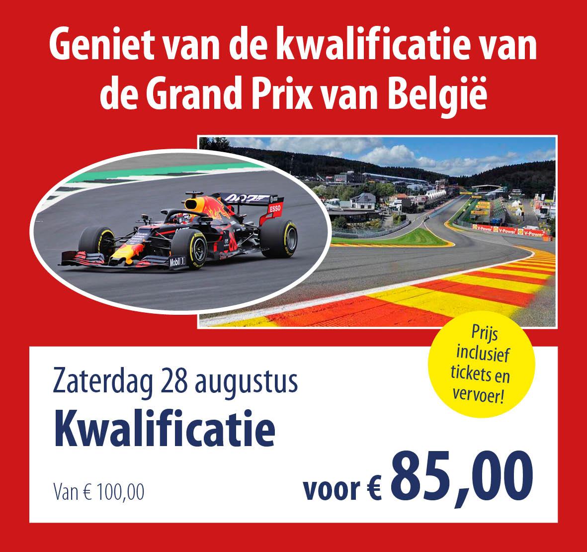 busreis GP België kwalificatie