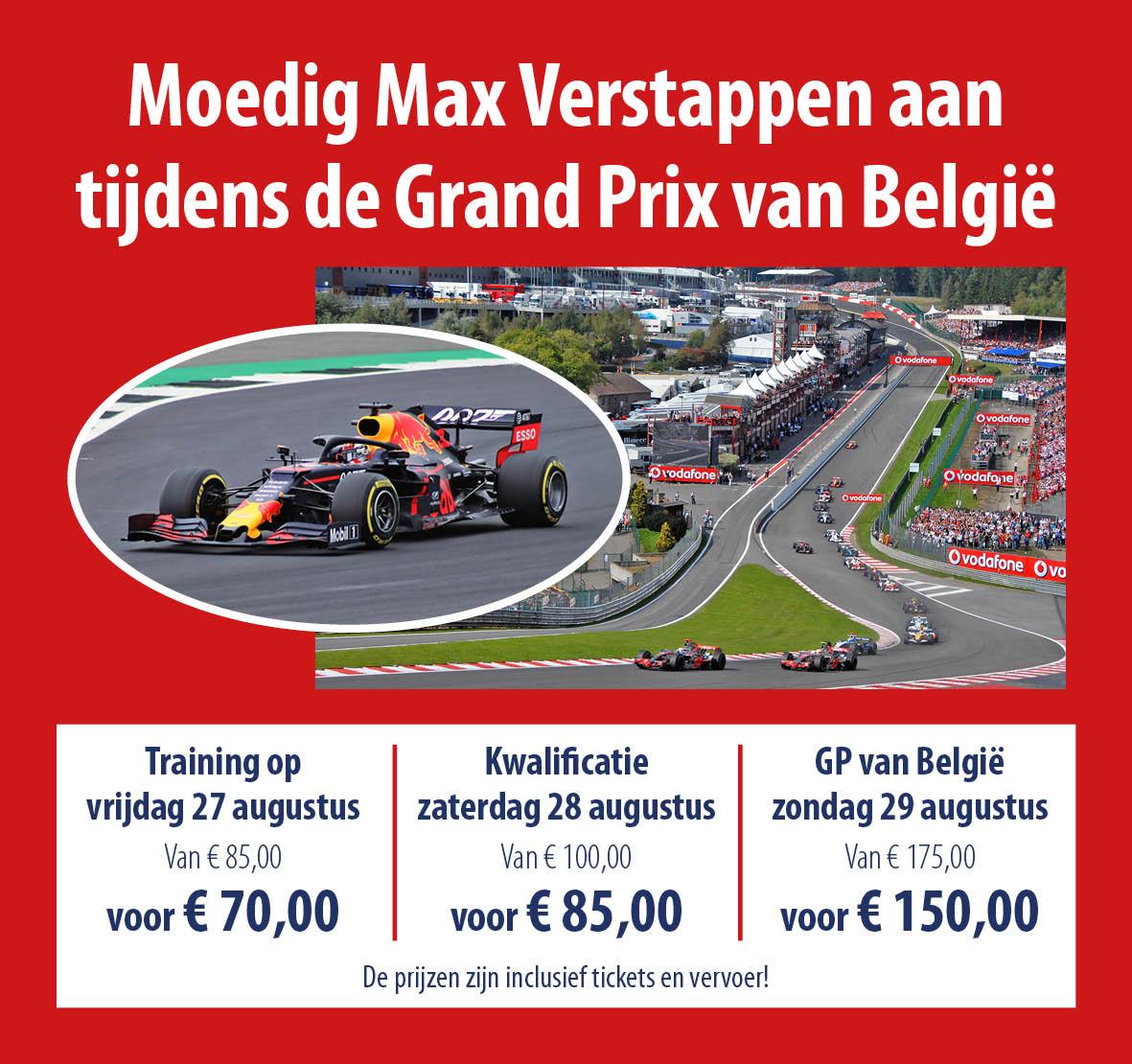busreizen F1 Grand Prix België