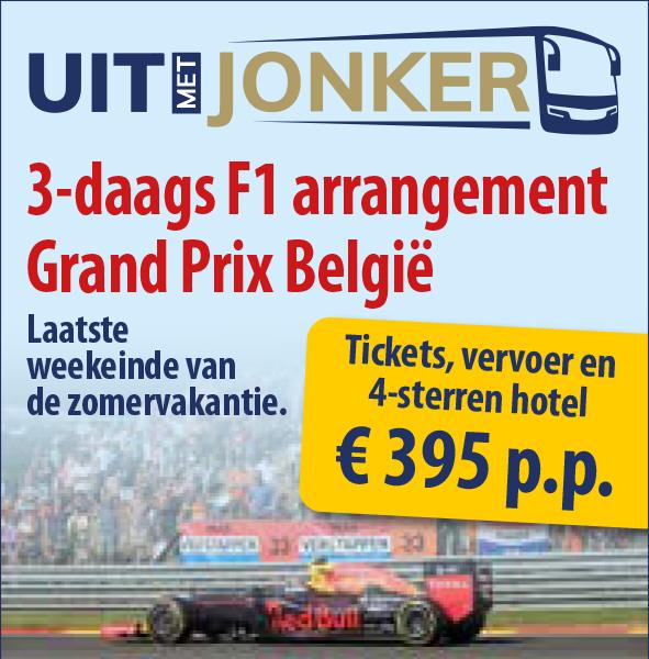 Weekend arrangement F1 Belgie Spa